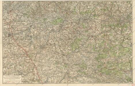 Ravensteins Kriegskarte Nr. 42 für das Gebiet zwischen Charleroi - Maubeuge ...