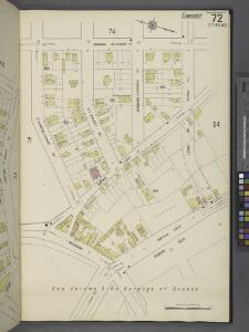 Queens V. 10, Plate No. 72 [Map bounded by Chicago St., Lewis Ave., Queens Blvd., Broadway, Horton]