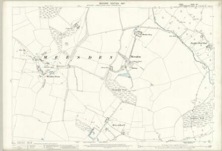 Essex (1st Ed/Rev 1862-96) XIII.1 (includes: Brent Pelham; Meesden) - 25 Inch Map