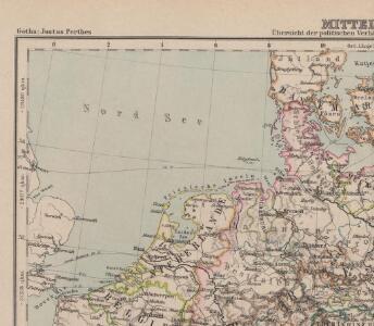 Mitteleuropa Übersicht der politischen Verhältnisse und Hauptverkehrswege