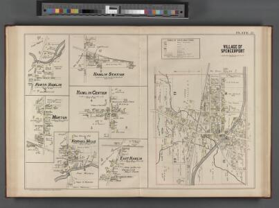 Monroe County, Double Page Plate No. 23  [Map of village of Spencerport, N. Hamlin, Hamlin Station, Hamlin Center, Morton, Kendall Mills, E. Hamlin]