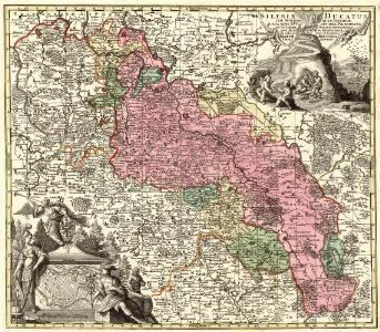 Silesiae Ducatus tam Superior. quam Inferior. juxta suos XVII minores Principatus et VI Libera Dominia disterminat