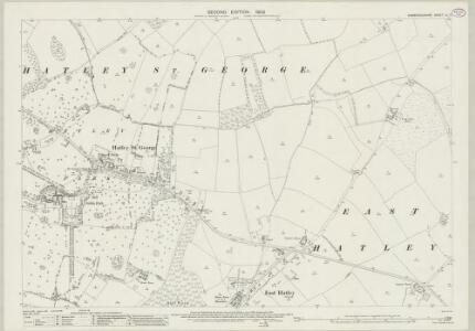 Cambridgeshire LII.3 (includes: East Hatley; Hatley St George; Tadlow) - 25 Inch Map