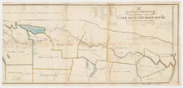 A new map and profile of the proposed canal from Lake Erie to Hudson River in the state of New York : Eastern sheet