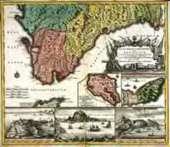 Accurata designatio celebris freti prope Andalusiæ castellum Gibraltar. inter in Europam et Africam
