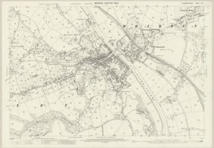 Worcestershire XIV.1 (includes: Bewdley; Kidderminster Foreign; Ribbesford; Wribbenhall) - 25 Inch Map