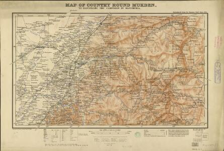 Map of the country round Mukden ... January, 1905
