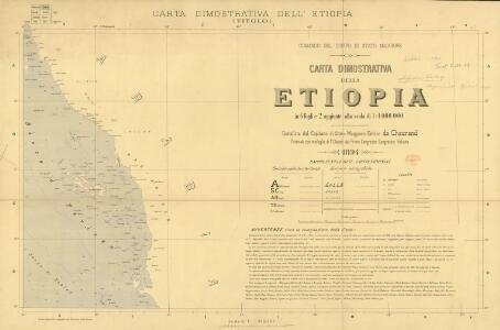 Carta dimostrativa della Etiopia (Sheet 1)