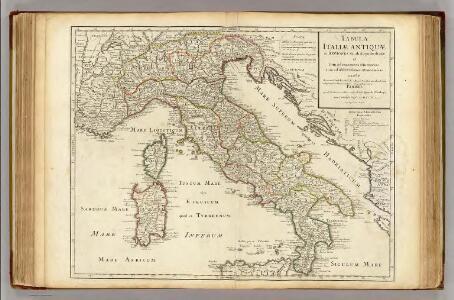 Tabula Italiae Antiquae in regiones XI ab Augusto divisae.
