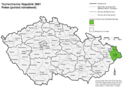 Tschechische Republik 2001. Polen (polská národnost)