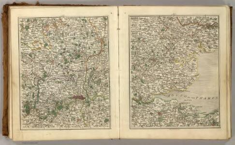 Sheets 25-26.  (Cary's England, Wales, and Scotland).