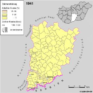 Kroaten im Komitat Bács-Kiskun 1941