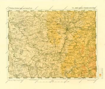 Podrobné mapy zemí Koruny české v měřítku 1:75.000 a mapa vzdáleností všech míst při silnici ležících - Jindř. Hradec - Třeboň - N. Bystřice. Průvodce statisticko-historický po všech místech na těchto mapách uvedených a rejstřík věcný názvů hor, potoků, řek, rybníků atd. Sešit 49. List 73,