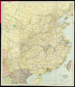 A Map of China prepared for the China Inland Mission 1923