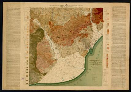Mapa geológico y topográfico de la provincia de Barcelona: región primera ó de contornos de la capital detallada / dirigida por el canónigo Dr. D. Jaime Almera ; ejecutada y grabada por Eduardo Brossa