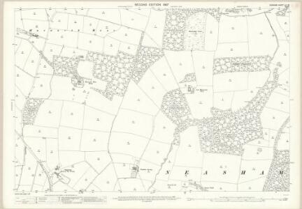 Durham LV.15 (includes: Hurworth; Morton Palms; Neasham) - 25 Inch Map