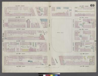 Plate 69: Map bounded by West 27th Street, East 27th Street, Fourth Avenue, East 22nd Street, West 22nd Street, Sixth Avenue