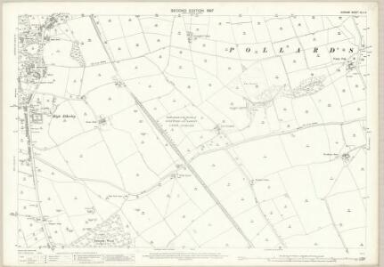 Durham XLII.5 (includes: Bishop Auckland; Etherley; Evenwood And Barony) - 25 Inch Map