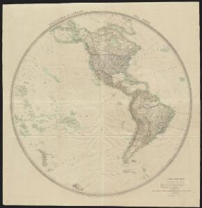 Westlicher Planiglob der Erde