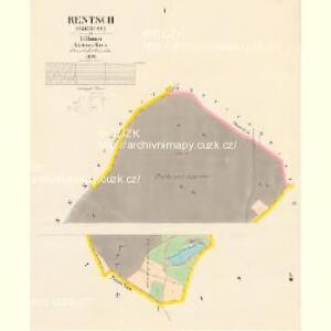 Rentsch (Rzencze) - c6688-1-001 - Kaiserpflichtexemplar der Landkarten des stabilen Katasters