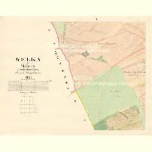 Welka - m3303-1-009 - Kaiserpflichtexemplar der Landkarten des stabilen Katasters