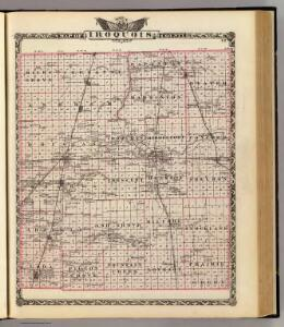 Map of Iroquois County.