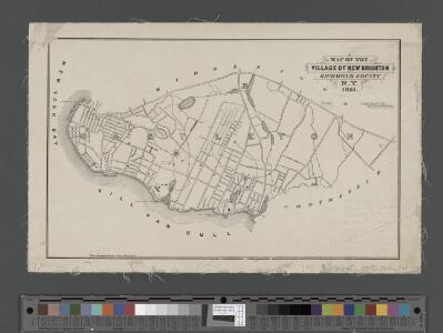 Map of the Village of New Brighton, Richmond Co., New York City, NY.