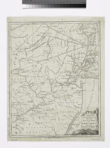 A New and accurate map of the present seat of war in North America: comprehending New Jersey, Philadelphia, Pensylvania, New-York, &c.