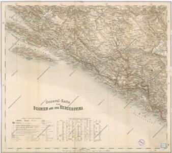 Generalkarte von Bosnien und Herzegovina