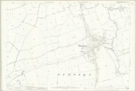 Buckinghamshire XV.6 (includes: Bletchley; Woughton on The Green) - 25 Inch Map