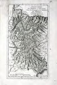 Frontieres de France et d'Italie pour les campagnes du Marechal de Berwick