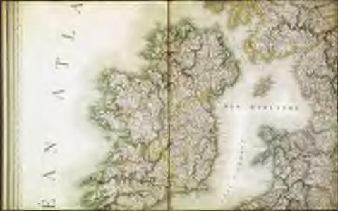 Carte des iles britanniques ou Royaume-Uni de la Grande Bretagne et d'Irlande, 3