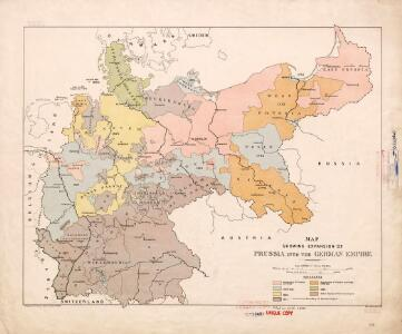 Map showing expansion of Prussia into the German Empire