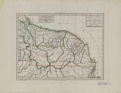 Carte des colonies Française et Hollandaise de la Guyane