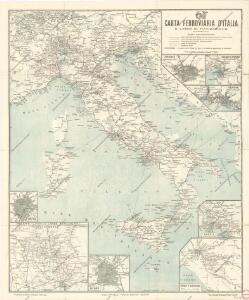 Carta ferroviaria d ́Italia