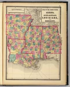 Alabama, Arkansas, Louisiana, and Mississippi.