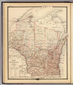 Map of Wisconsin, showing assembly districts.