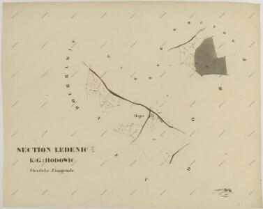 Mapy činžovních pozemků IV. sekce třeboňského velkostatku pro obce: Doudleby, Hodovice, Ledenice, Nový Dvůr, Zborov, Zvíkov 1