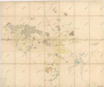 Hospodářská mapa polesí Dlažov, Miletice, Běhařov