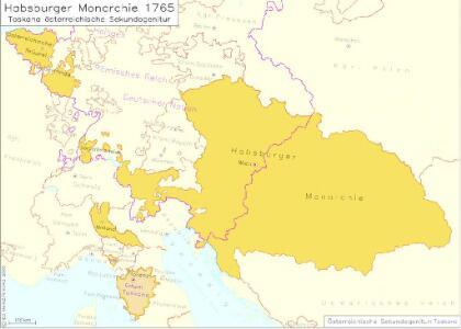 Habsburger Monarchie 1765, Toskana österreichische Sekundogenitur