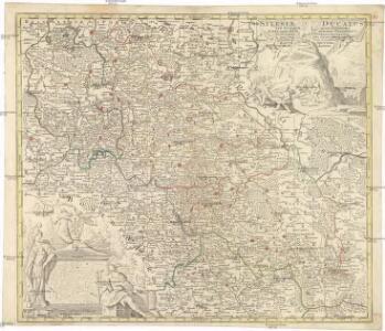 Silesiae ducatus tam superior quam inferior. juxta suos XVII minores principatus et VI libera dominia disterminat