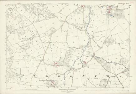 Herefordshire VIII.13 (includes: Brimfield; Little Hereford; Middleton On The Hill) - 25 Inch Map