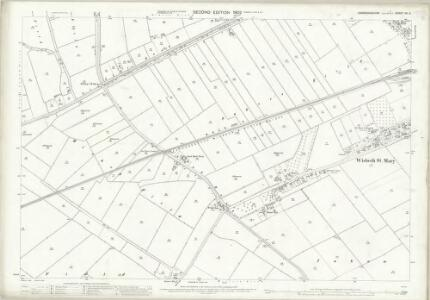 Cambridgeshire VII.5 (includes: Leverington; Parson Drove; Wisbech St Mary; Wisbech St Peter) - 25 Inch Map