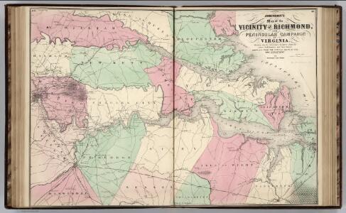 Vicinity of Richmond, and Peninsular Campaign in Virginia (American Civil War).