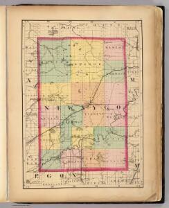 (Map of Newaygo County, Michigan)