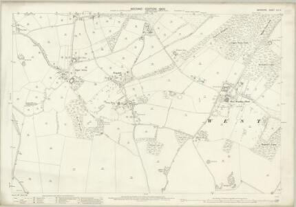 Berkshire XLII.9 (includes: Inkpen; West Woodhay) - 25 Inch Map