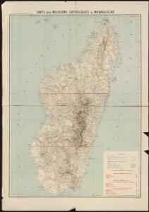 Carte des missions catholiques à Madagascar
