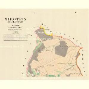 Mirotein (Merotine) - m1765-1-001 - Kaiserpflichtexemplar der Landkarten des stabilen Katasters