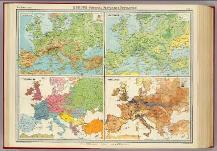 Europe - physical features & population.