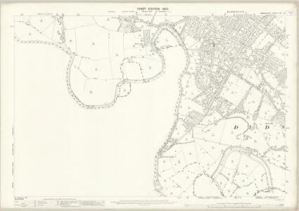 Lancashire CXI.10 (includes: Manchester; Sale) - 25 Inch Map